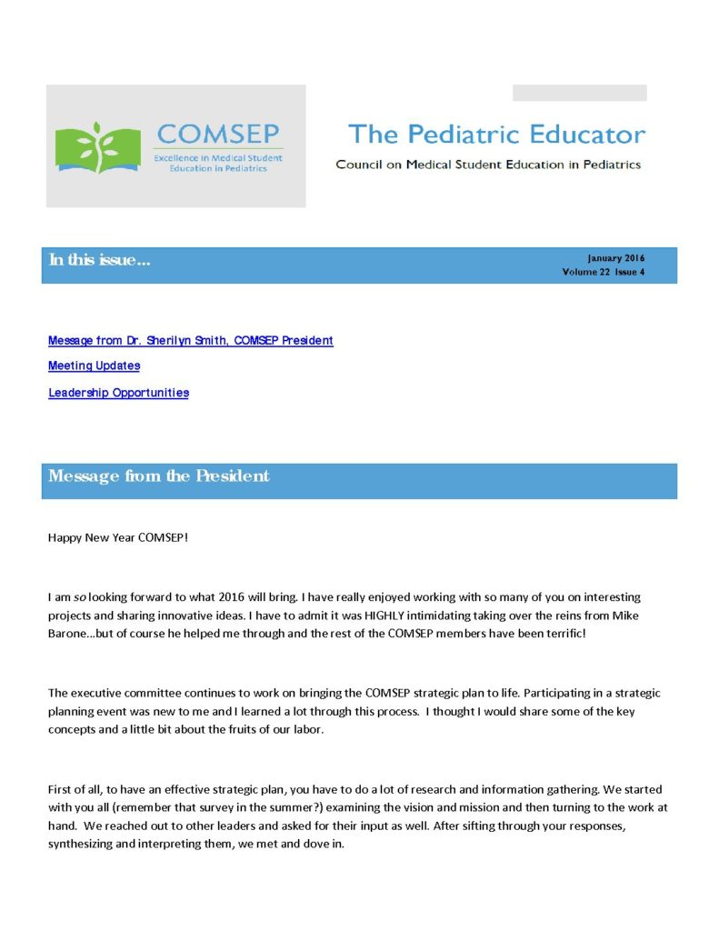 COMSEP Educator – COMSEP